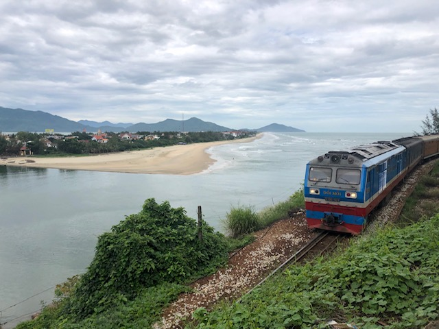 A beautiful view of Lang Co and Lap An lagoon from Hai Van pass - Hue Private Excursion Tour