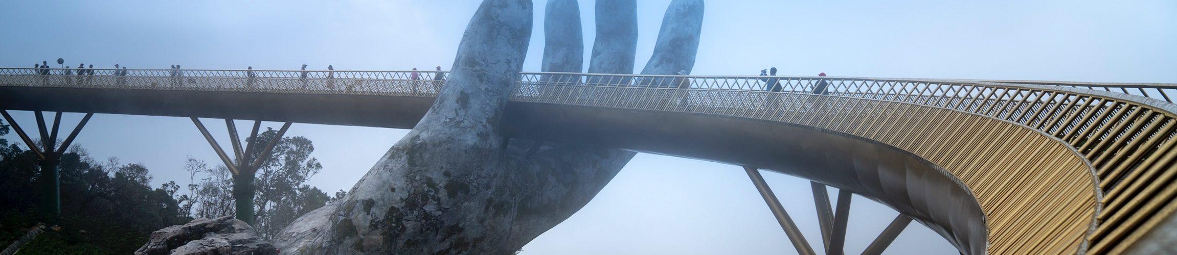 The golden bridge in Bana hill Danang - Private Vietnam Tour