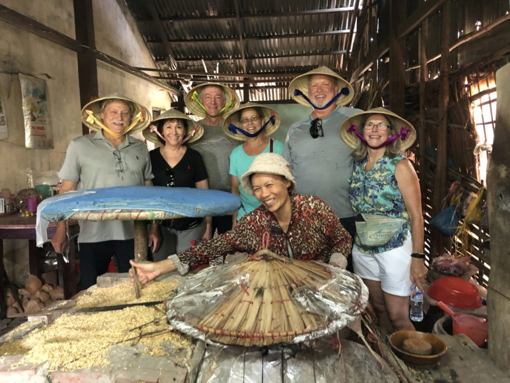 Making rice paper in mekong delta - Private Vietnam Tour Guide