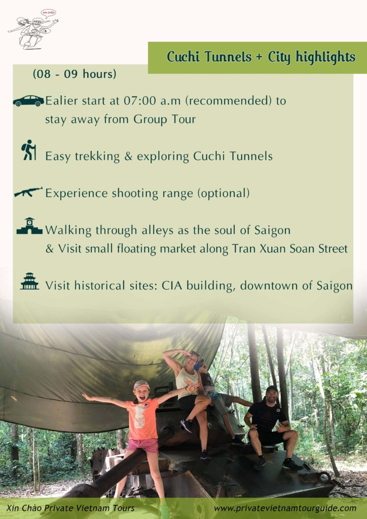 Cuchi and Saigon highlights one full day tour with Xinchao Private Vietnam Tours