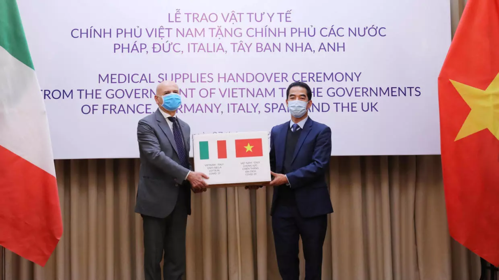The Vietnamese Government show supports to the Italian Government during Covid-19 pandemic