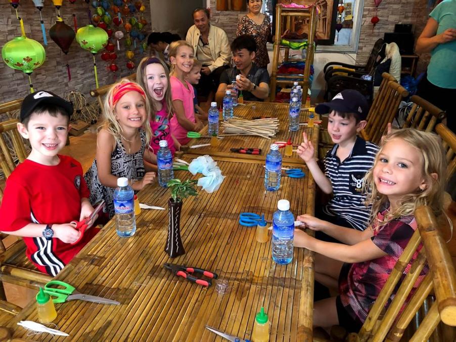 Lantern making workshop in Hoi An