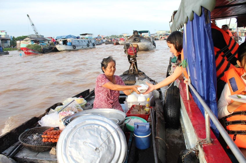 Food Trip on Boat in Mekong Delta