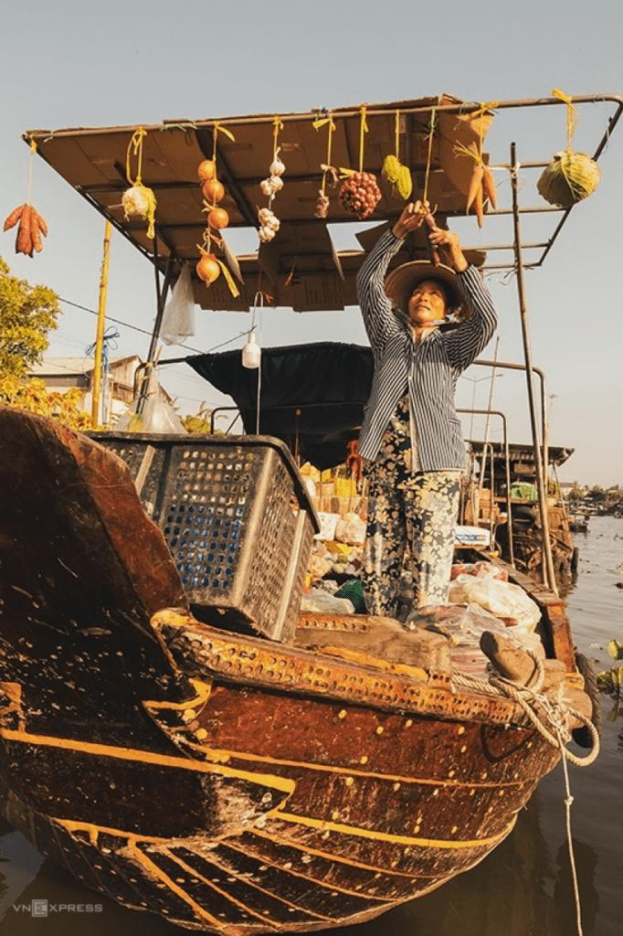 floating market in Southwest Vietnam