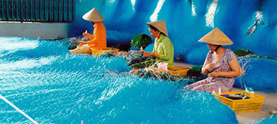 net weaving village in Vietnam
