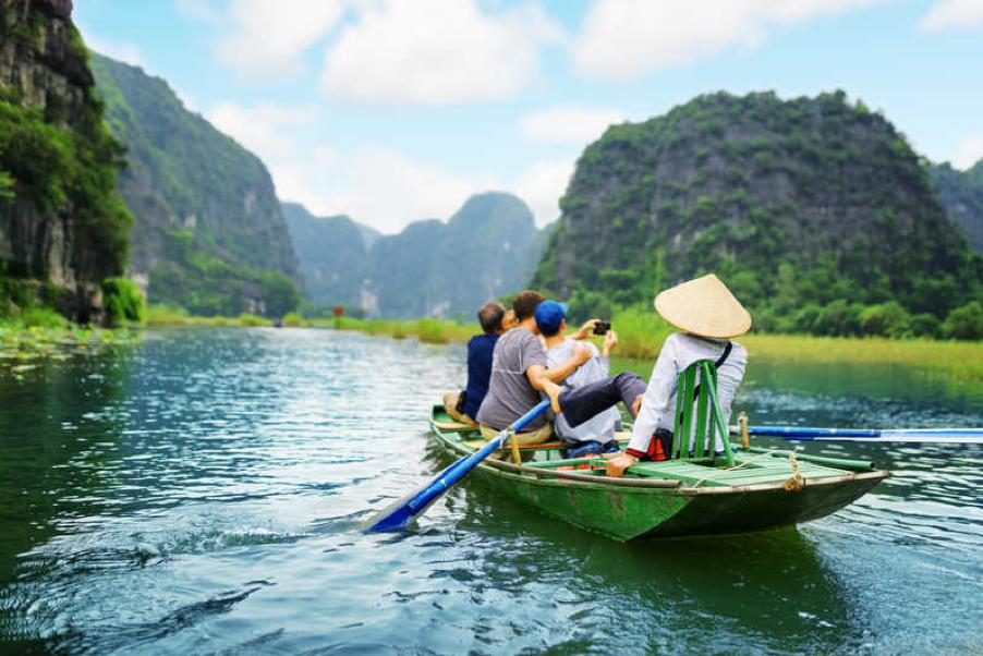 Boating in Tam Coc