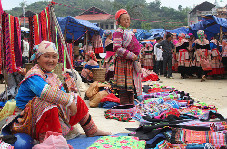 Bac Ha fair market Vietnam